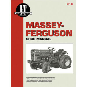 Service Manual For Massey Ferguson 1010 1020 Compact Tractor Mf 47