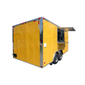 Concession Trailer 8 5 x16 Yellow Food Vending Catering Event