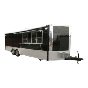 Concession Trailers 8 5 x24 Black Event Food Vending Catering Trailer