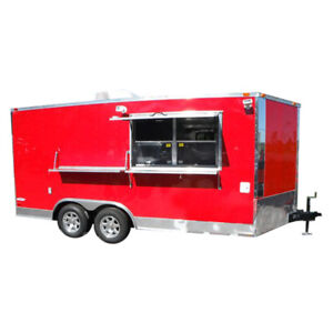 Concession Trailer 8 5 x16 Red Catering Food Vending Event Bbq
