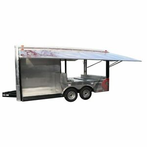 Concession Trailer 8 5 x16 Red Pizza Event Food Bbq Catering