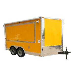 Concession Trailer 8 5 x12 Yellow Bbq Food Event Vending Restroom