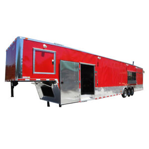 Concession Trailer 8 5 x48 Red Gooseneck Food Bbq Smoker Catering