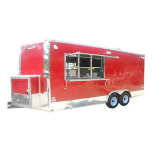 Concession Trailer 8 5 x19 Red Catering Food Vending Event