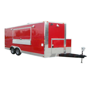 Concession Trailer 8 5 X 18 Red Event Ice Cream Smoothie Catering