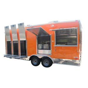 Concession Trailer 8 5 X 20 Smoothie Ice Cream Event Yogurt