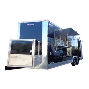 Concession Trailer 8 5 x20 Bbq Smoker Food Event Catering black