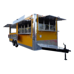 Concession Trailer 8 5 x20 Yellow Event Catering Vending Food