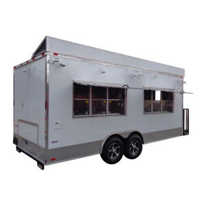 Concession Trailer 8 5 x20 White Vending Event Food Catering