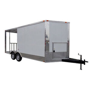 Concession Trailer 8 5 x18 White Bbq Smoker Catering Food