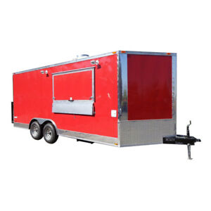 Concession Trailer 8 5 x18 Red Event Vending Catering Food