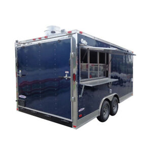Concession Trailer 8 5 X 17 blue Catering Enclosed Food Cart