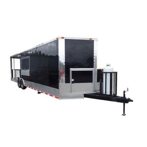 Concession Trailer 8 5 x30 Black Smoker Food Catering with Appliances