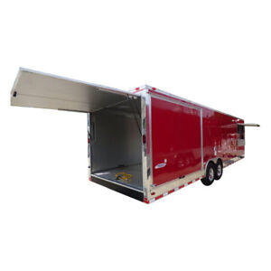 Concession Trailer 8 5 x30 Red Smoker Bbq Food Catering