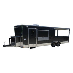 Concession Trailer 8 5 X 24 Charcoal bbq Smoker Event Catering