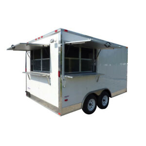 Concession Trailer 8 5 X 14 White Food Catering Event Trailer