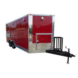 Concession Trailer Red 8 5 X 16 Catering Event Food Trailer Appliances
