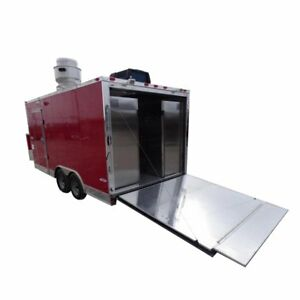 Concession Trailer 8 5 x16 Red Event Food Catering Bbq