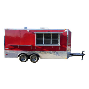 Concession Trailer 8 5 x16 Red Food Catering Event Bbq
