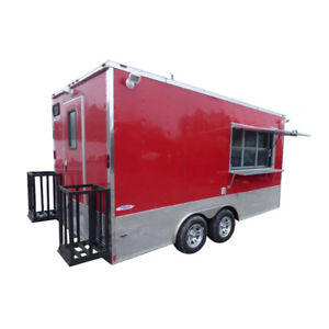 Concession Trailer 8 5 X 16 Red Food Event Catering