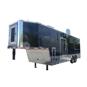 Concession Trailer 8 5 X 30 Black Bbq Event Catering