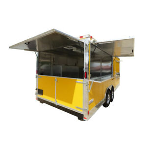 Concession Trailer 8 5 X 20 Yellow Bbq Event Catering