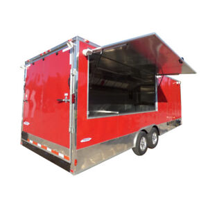 Concession Trailer 8 5 X 24 Victory Red Food Event Vending