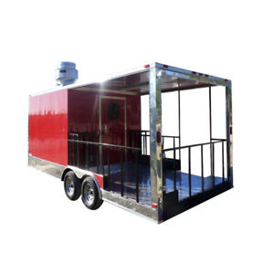 8 5 X 20 Red Bbq Event Catering Concession Food Trailer