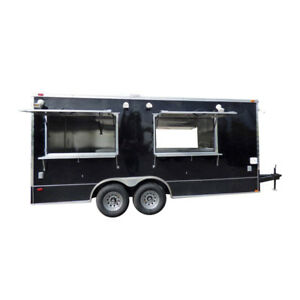 Concession Trailer Black 8 5 X 18 Food Catering Event