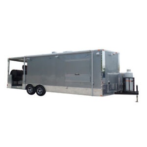 8 5 X 24 Concession Trailer Silver Frost Bbq Event Catering