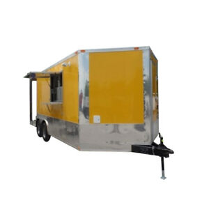 8 5 X 19 Concession Food Trailer Porch Style