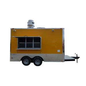 8 5 X 14 Concession Food Trailer Yellow Event Catering