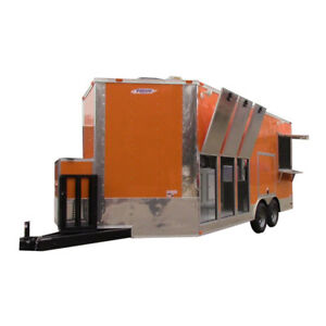 Concession Trailer 8 5 X 18 Orange Yogurt And Smoothie Vending