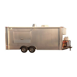 Concession Trailer 8 5 X 20 Silver Frost Food Event Catering