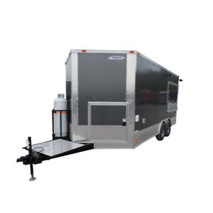 Concession Trailer 8 5 X 17 Charcoal Gray Food Event Catering