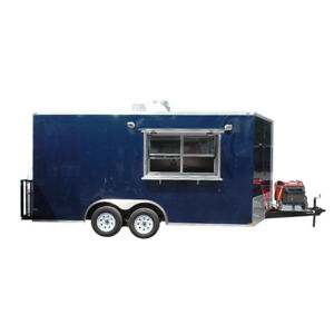 Concession Trailer 8 5 X 16 Indigo Blue Food Event Catering