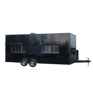 Concession Trailer 8 5 X 20 Black Catering Food Event