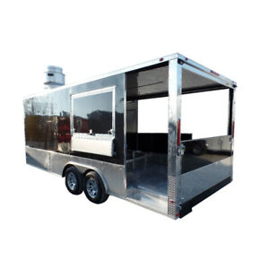8 5 X 20 Concession Food Trailer Porch Style Bbq