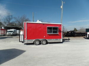 Concessions 8 5x16 Victory Red Food Catering Event Trailer
