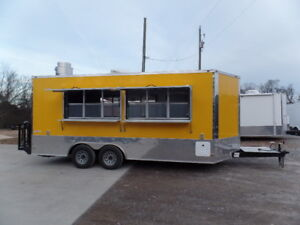 8 5 X 18 Concession Food Trailer Yellow Event Catering