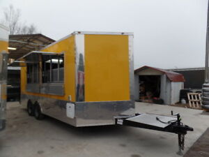 Concession Trailer 8 5 X 18 Yellow Catering Event Food