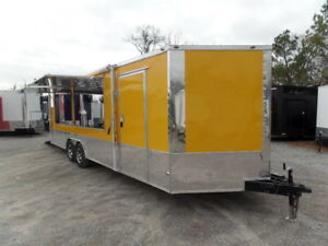 Concession Trailer 8 5 X 24 Yellow Event Food Catering