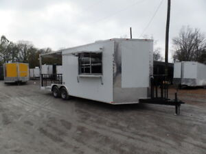 Concession Trailer 8 5x22 White Catering Event
