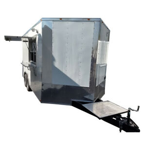 Concession 8 5x16 White Food Catering Trailer