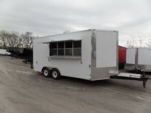 White Concession 8 5x16 Food Catering Event Trailer