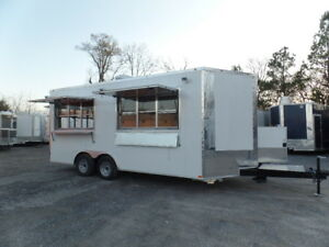 8 5x18 Concession White Catering Event Trailer
