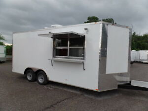 8 5x18 White Food Catering Event Trailer