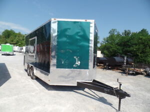 8 5x16 Food Event Concession Emerald Green Trailer
