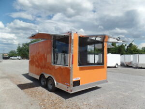 Orange 8 5x16 Ticket Booth Custom Enclosed