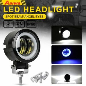 3 Inch 20w Led Work Lights Round Spot Driving Fog Lamp Offroad Motorcycle Atv